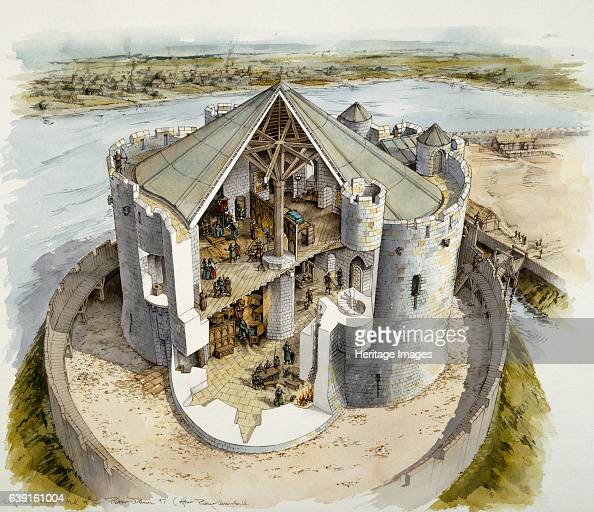 Clifford's Tower mid14th century Reconstruction drawing of Clifford's Tower the largest remaining part of York Castle once the centre of government...