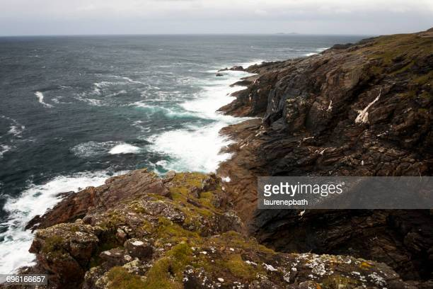 Cliffs and ocean, Malin Head, County donegal, Northern Ireland, UK