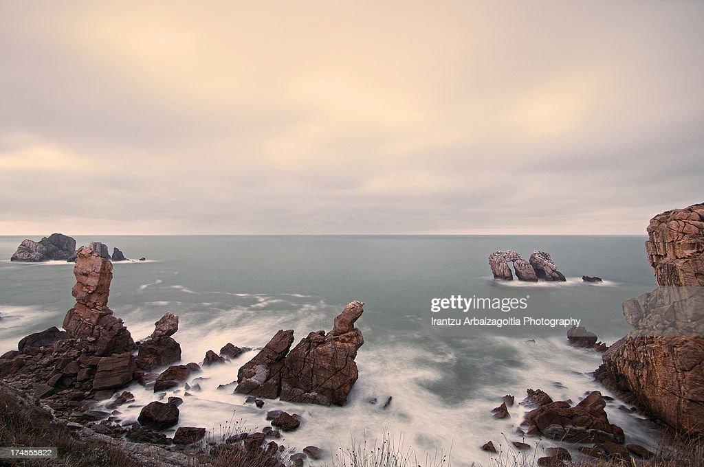 Good Rocks In Spanish Part - 3: Cliffs And Rocks In Spanish U0027Costa Quebradau0027 Coast : Stock Photo