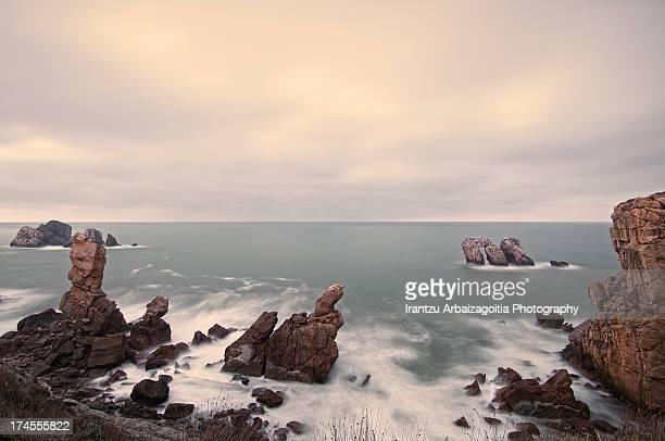 cliffs and rocks in Spanish 'Costa Quebrada' coast