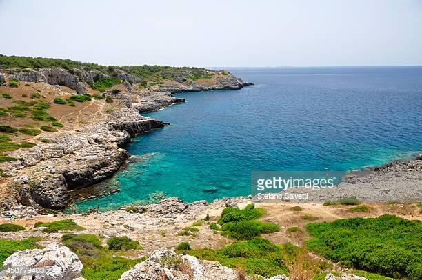 Cliffs and sea in Punta Uluzzo