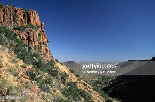 Cliffs and Valley in Karoo Desert
