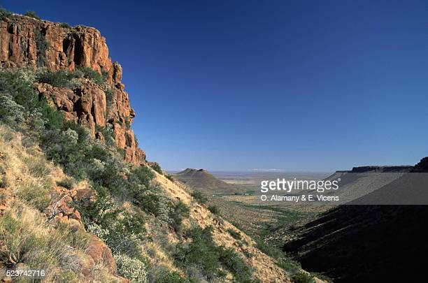 Cliffs and Valley in Karoo Desert