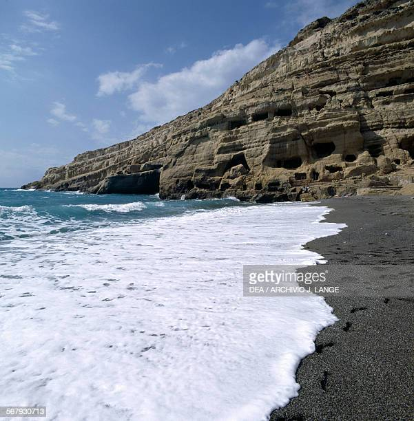 Cliffs at Matala Crete Greece