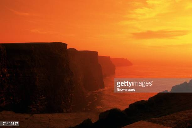 Cliffs at sunset, Cliffs of Moher, Ring of Kerry, Republic of Ireland