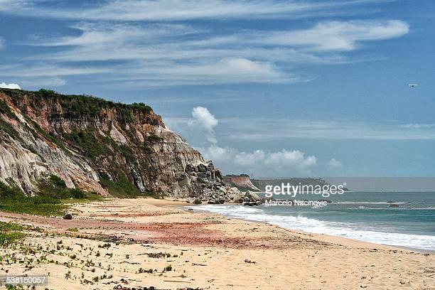 Cliffs in Trancoso Beach