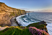 Cliffs of Moher at sunset, Co. Clare