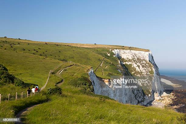 Cliffs walk, White Cliffs of Dover, England