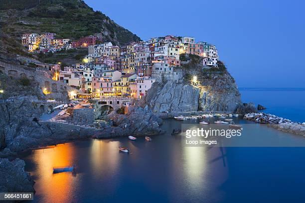 Clifftop village of Manarola in the Cinque Terre