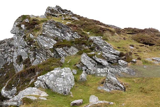 cliffy 風景を背景に白色