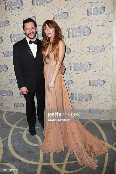 Clifton Collins Jr and Francesca Eastwood arrive at HBO's Official Golden Globe Awards after party at the Circa 55 Restaurant on January 8 2017 in...