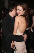 Clifton Collins Jr and Francesca Eastwood attend the after party for the premiere of Momentum Pictures' 'Outlaws And Angels' on July 12 2016 in...