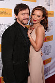 Clifton Collins Jr and Francesca Eastwood attend the premiere Of Momentum Pictures' 'Outlaws And Angels' at Ahrya Fine Arts Movie Theater on July 12...