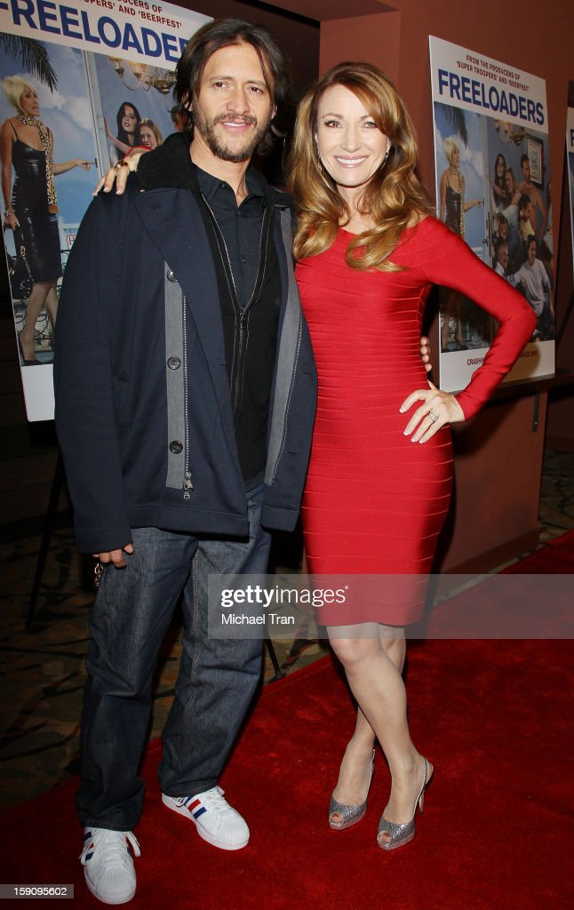 Clifton Collins Jr and Jane Seymour arrive at the Los Angeles premiere of 'Freeloaders' held at Sundance Cinemas on January 7 2013 in Los Angeles...