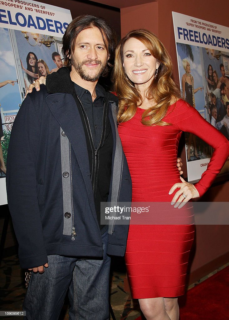 <a gi-track='captionPersonalityLinkClicked' href=/galleries/search?phrase=Clifton+Collins+Jr.&family=editorial&specificpeople=540063 ng-click='$event.stopPropagation()'>Clifton Collins Jr.</a> and Jane Seymour (R) arrive at the Los Angeles premiere of 'Freeloaders' held at Sundance Cinemas on January 7, 2013 in Los Angeles, California.