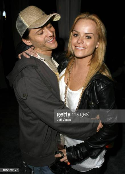 Clifton Collins Jr and Taryn Manning during Samsung and Sprint Present the UpStage Country Club Red Carpet and Inside at Private Residence in Beverly...