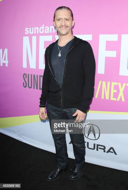 Clifton Collins Jr arrives at the Los Angeles Premiere of 'Life After Beth' held during the 2014 Sundance NextFest at The Theatre at Ace Hotel...