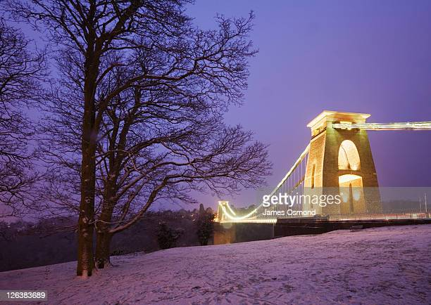 Clifton Suspension Bridge at Dusk in Winter. Bristol. England. UK.