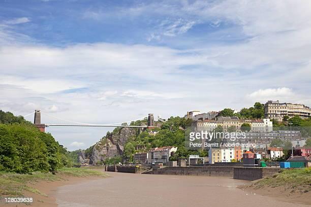 Clifton Suspension Bridge designed by Isambard Kingdom Brunel, spanning the Avon Gorge of the River Avon, Clifton, Bristol, England, United Kingdom, Europe
