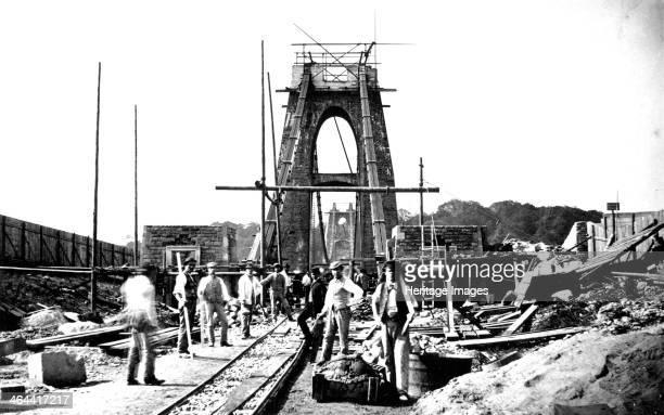 Clifton Suspension Bridge under construction Bristol 1864 Work began on the bridge in 1836 under the supervision of Isambard Kingdom Brunel but...