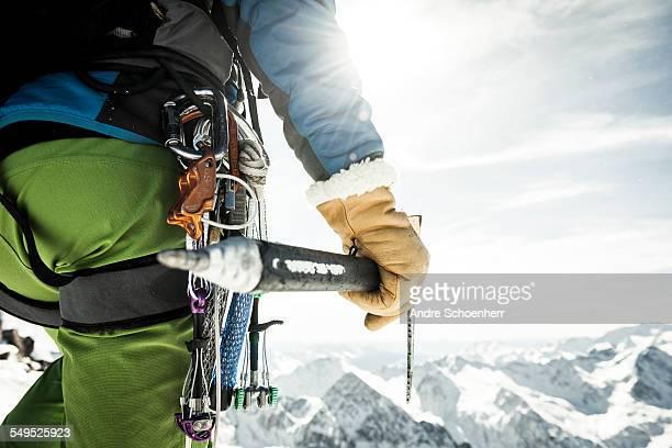 Climber Close Up Shot