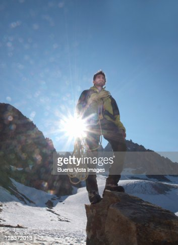 Climber in the Mont Blanc region