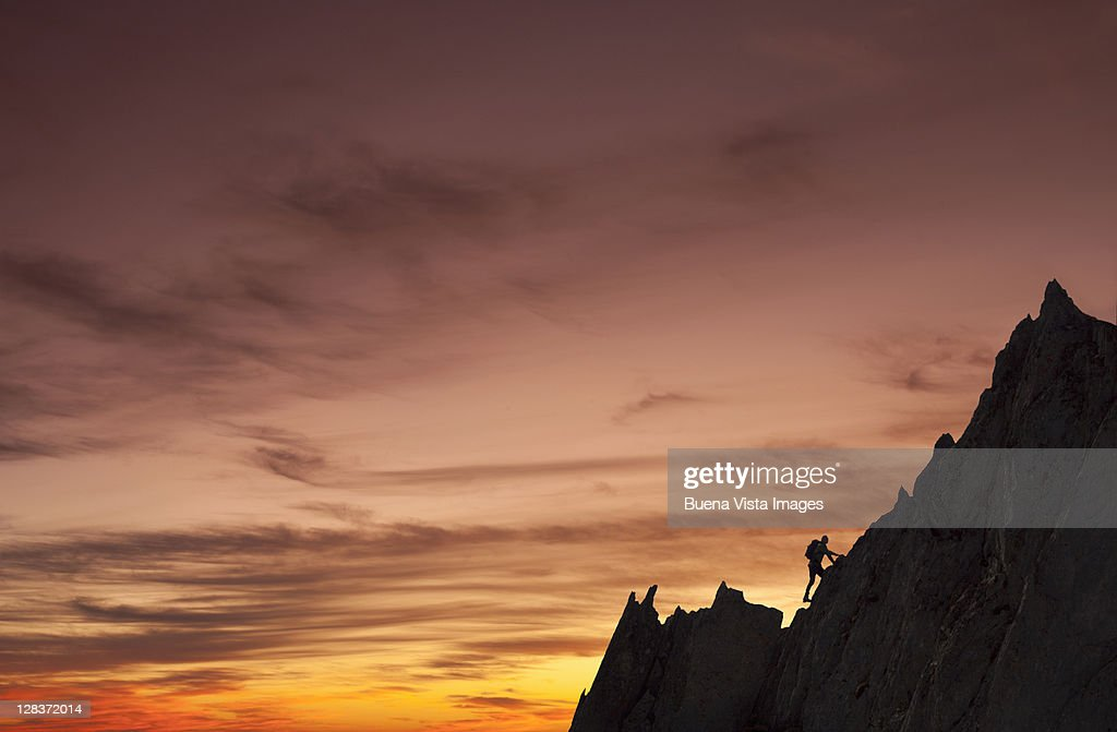 Climber in the Mont Blanc region : Stock Photo