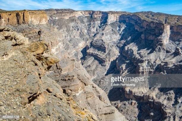 Climber on Jebel Shams