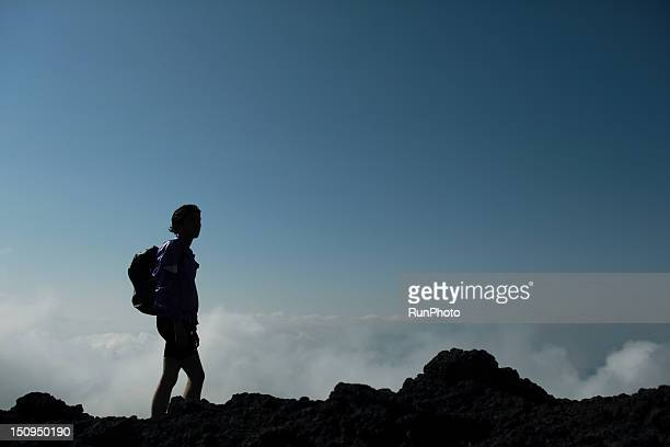 climber on mountain