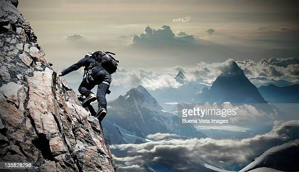 Climber on the Mount Rosa Massif