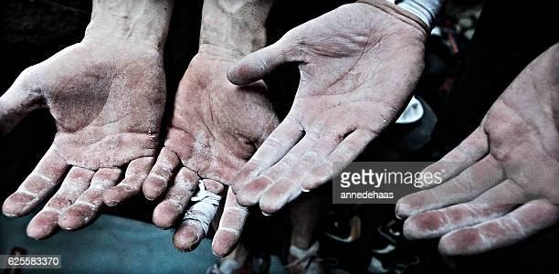Alpinista de mãos