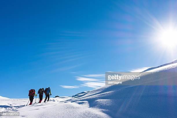 Climbers high altitudes