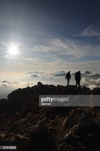 Climbers in Julian Alps