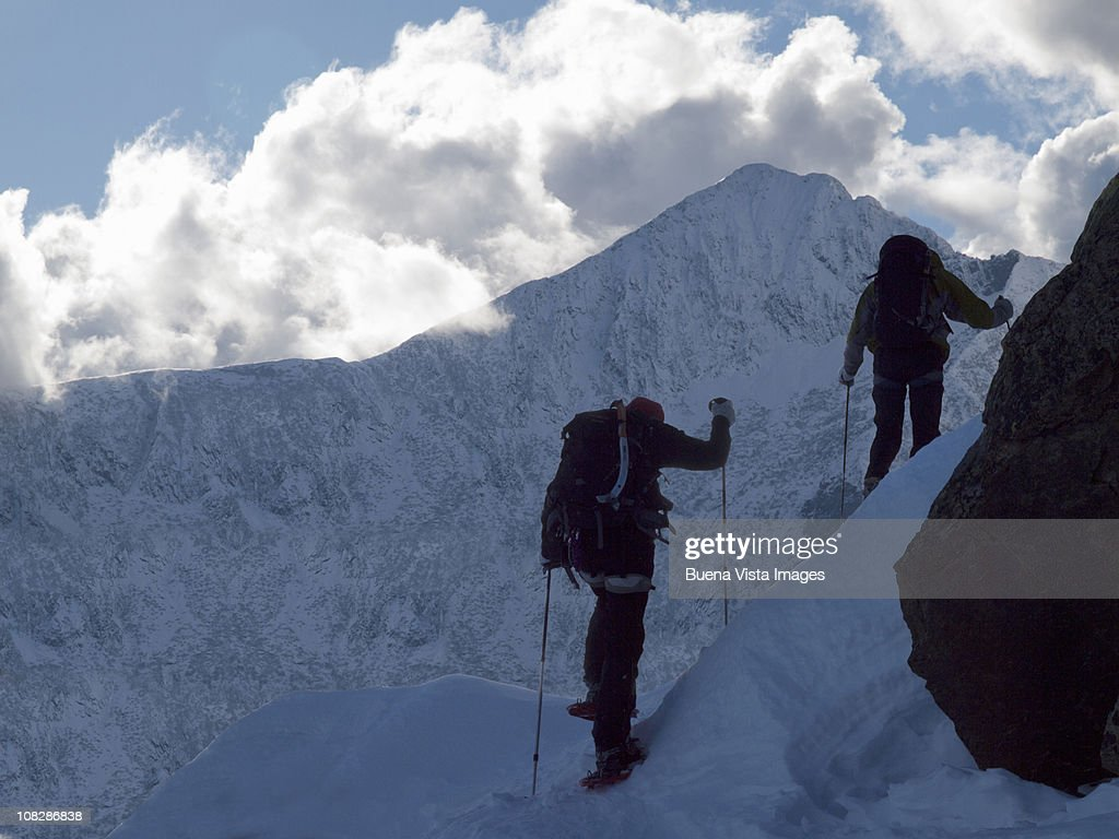 Climbers in the Alps : Stock Photo