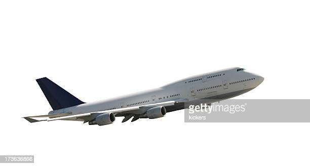 Climbing airliner, isolated