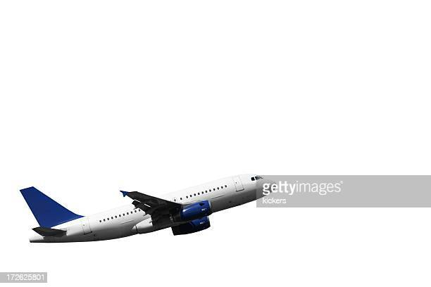 Climbing airplane, isolated