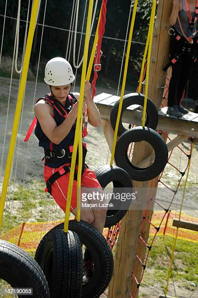 Climbing and swinging, After the suspended tire