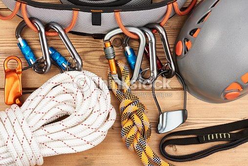 Kletterausrüstung Deutschland : Kletterausrüstung stock foto thinkstock