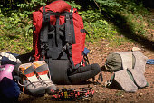 Climbing Gear Beside Trail