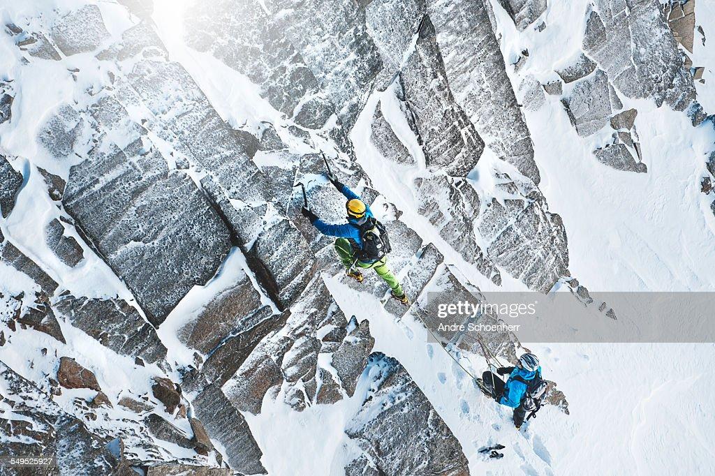 Climbing in the Austrian Alps : Stock Photo