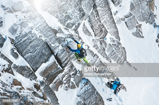 Climbing in the Austrian Alps