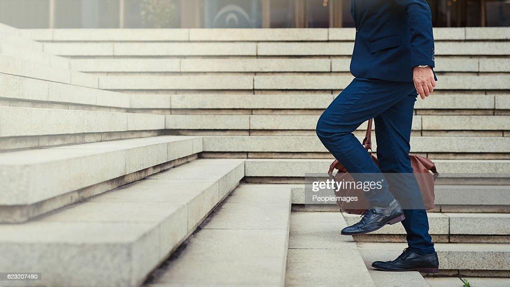 Escalade les étapes de la réussite : Photo