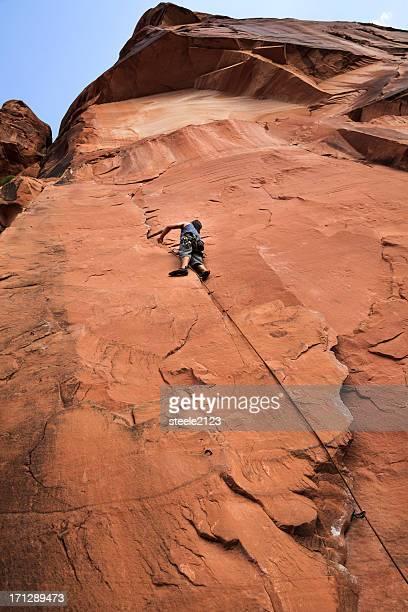 Klettern Sie zum Gipfel