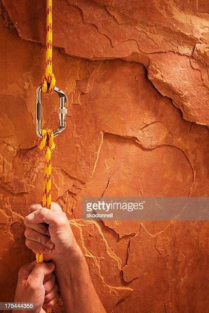 Klettern Sie ein Red Rock