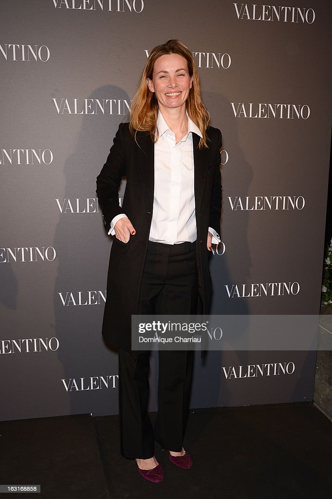 Céline Balitran attends the Valentino Flagship Reopening Cocktail on March 5, 2013 in Paris, France.