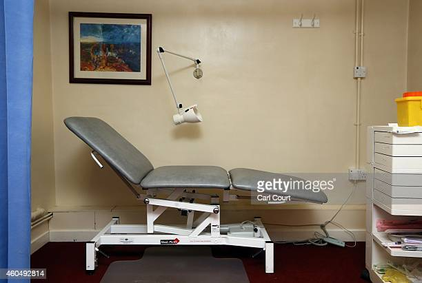 A clinical bed is pictured in a General Practitioners surgery on December 4 2014 in London England Ahead of next years general election the...