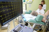 Clinical research at GHICL Lille France Cardiology department Cardiac stress test performed under scan and ECG control