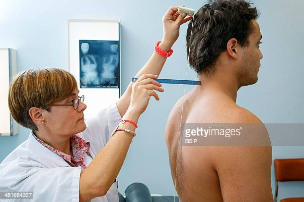Clinical research in the GHICL Physical medicine unit in Saint Philibert hospital in Lille France Clinical exam the doctor looks for signs of...