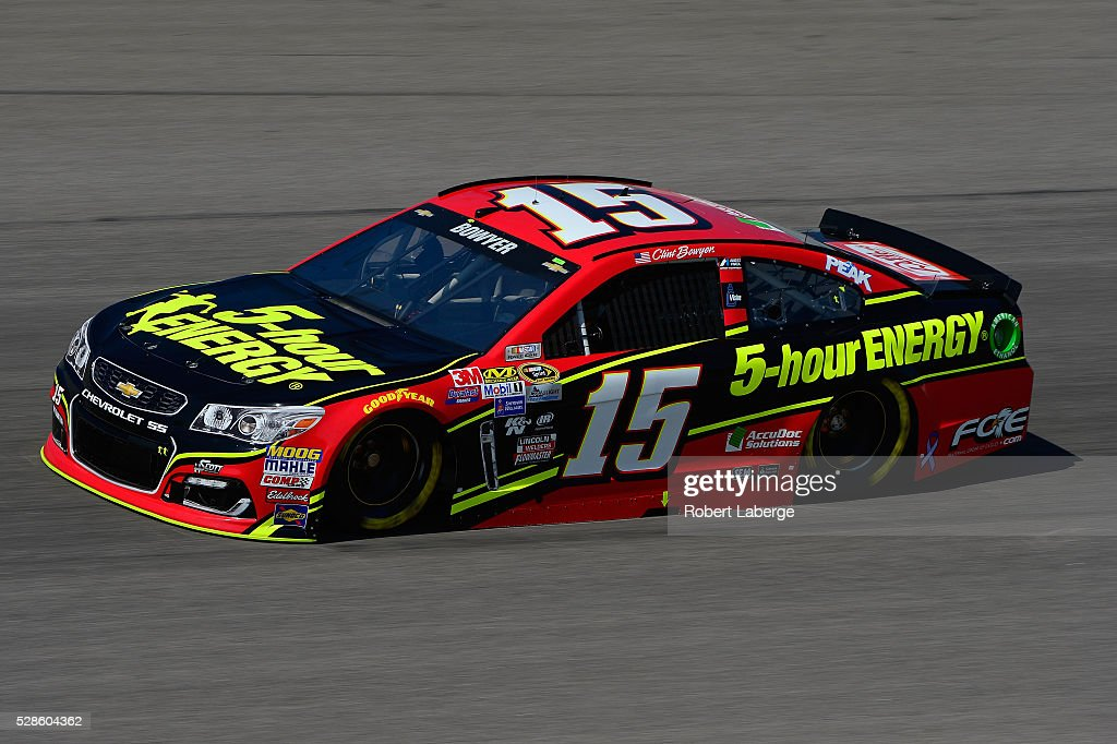 Clint Bowyer, driver of the #15 5-hour ENERGY Chevrolet, drives during practice for the NASCAR Sprint Cup Series Go Bowling 400 at Kansas Speedway on May 6, 2016 in Kansas City, Kansas.
