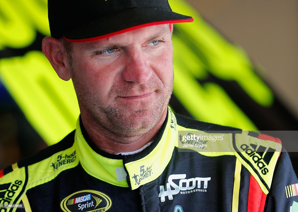 <a gi-track='captionPersonalityLinkClicked' href=/galleries/search?phrase=Clint+Bowyer&family=editorial&specificpeople=537951 ng-click='$event.stopPropagation()'>Clint Bowyer</a>, driver of the #15 5-hour ENERGY Chevrolet, looks on during practice for the NASCAR Sprint Cup Series Go Bowling 400 at Kansas Speedway on May 6, 2016 in Kansas City, Kansas.